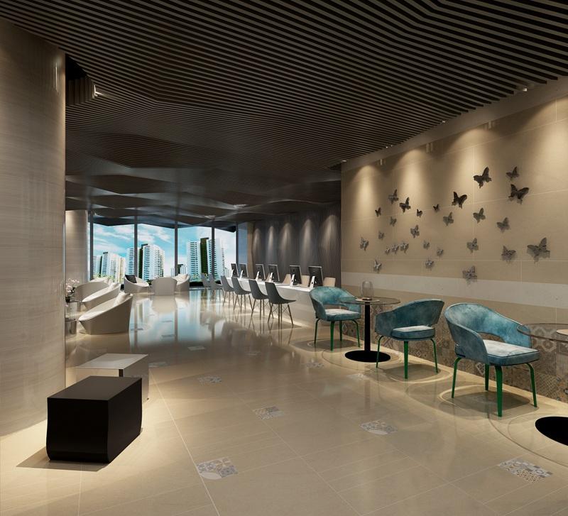 商业空间瓷砖效果